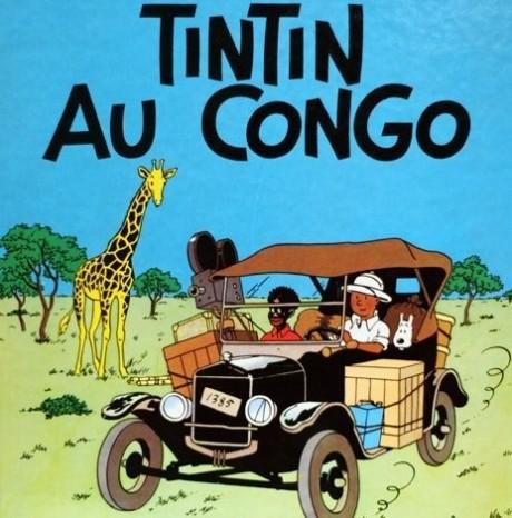 Beauté Congo, Cover of Tintin in the Congo book