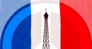 Paris Attacks PEACE flag