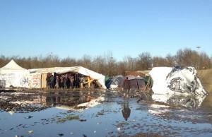 refugee camp in northern France