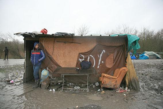 refugee camps provide makeshift shelter