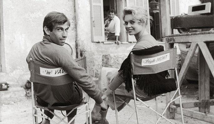 Brigitte Bardot and Roger Vadim © Cineforever.com