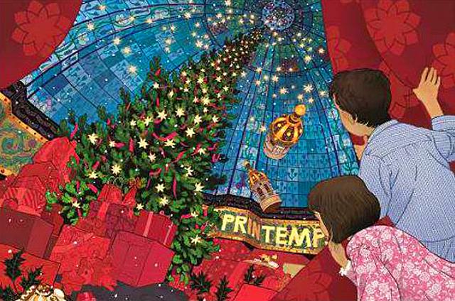 Things to do in Paris - Printemps Christmas windows