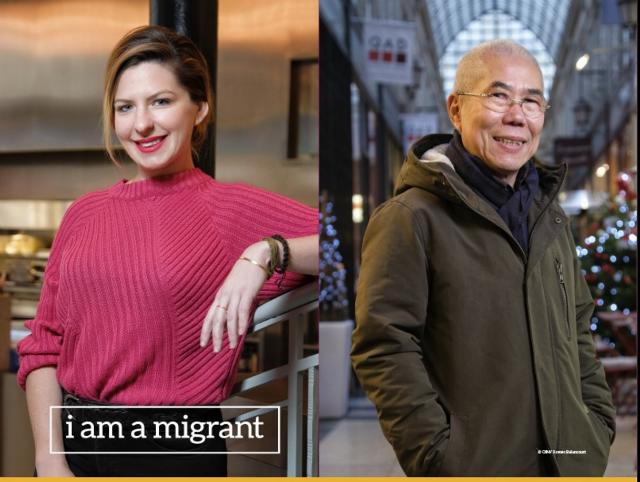I am a Migrant photo exhibition in Paris.