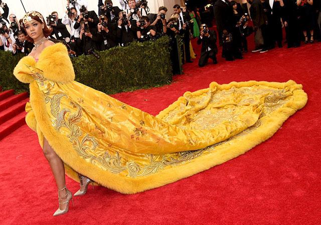Rihanna wearing Guo Pei