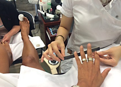 DS pedicure manicure session