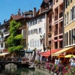 Annecy France center of town