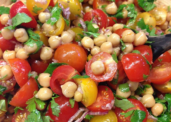 Tomato and Chickpea Salad