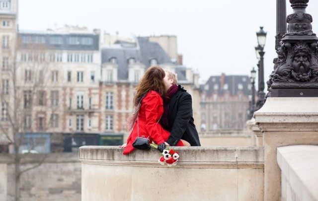 Romance in Paris attracts young lovers.