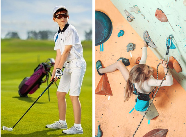 golf-escalade. Photos: © Iurii Sokolov/123RF (left) & ©Alexey Poprotsky/123RF (right)