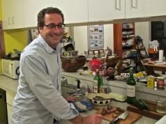 Ken Carlton in kitchen.