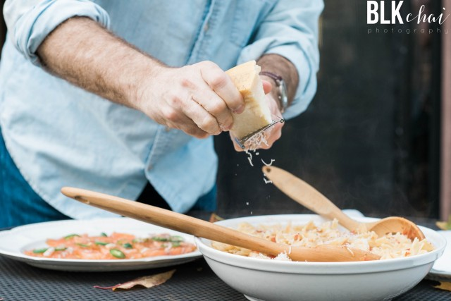 Ken Carlton shaving parmesan