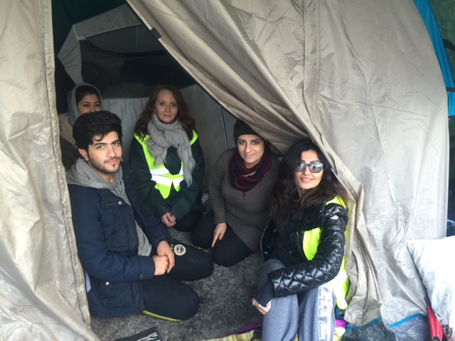 volunteers visiting refugee camps