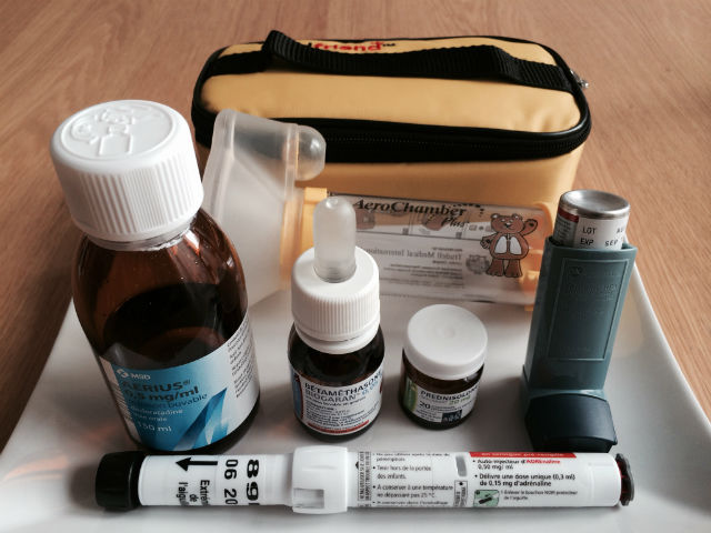medication for child with food allergies