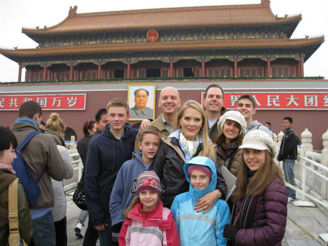 Author with her family in China © Melissa Dalton-Bradford.