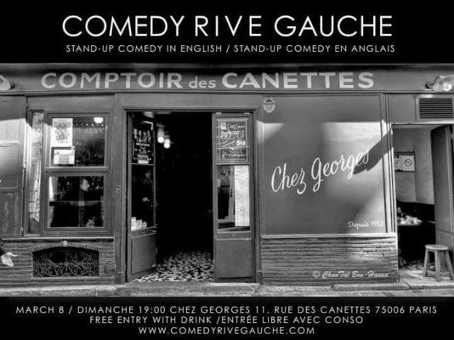 Photo courtesy of Comedy Rive Gauche