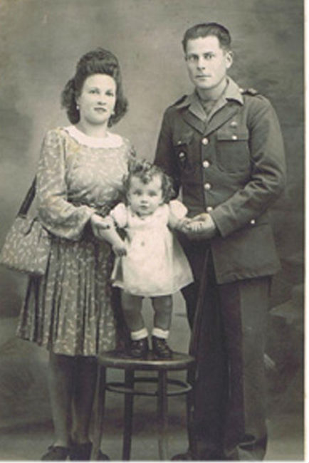 Danielle Duboscq with parents in Normandy. Photo courtesy of author