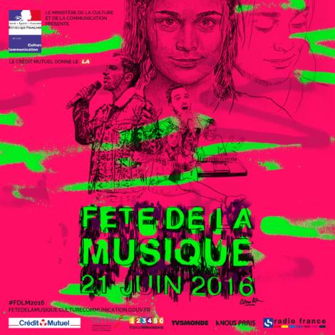 Fête de la Musique 2016 poster