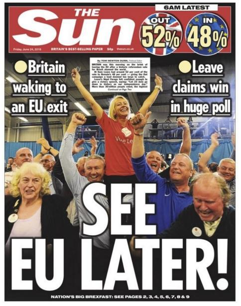 Sun Newspaper headline-06-28 at 10