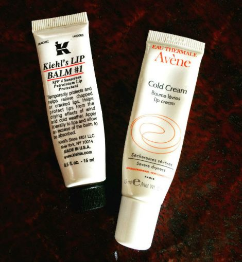 Kiehl and Avene lip balms. Photo courtesy of author