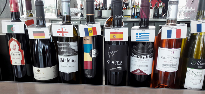 wines from around the world at Cité du Vin