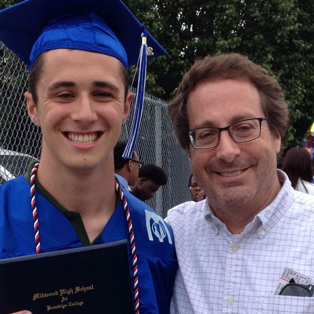 Author with son Ben on high school graduation day. © Ken Carlton