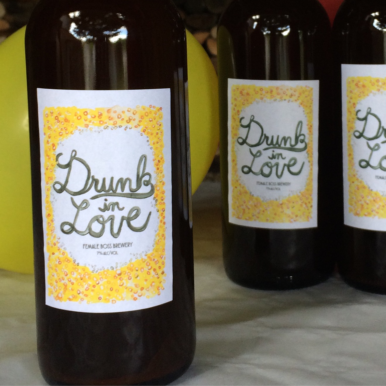 Drunk in Love beer brewed by Emily Dilling. Photo courtesy of author