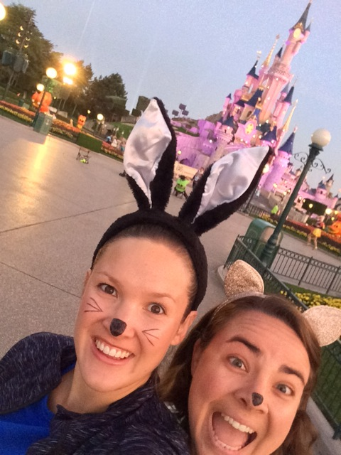 Runner Laura Moore with Chloe Martin at Disneyland Paris Half Marathon. Photo courtesy of author
