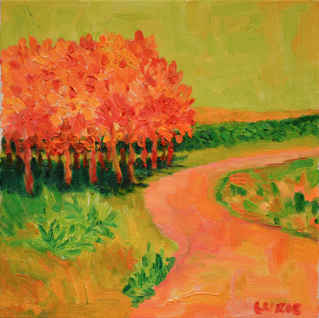 Painting of Orange Trees by Patty Lurie. Photo courtesy of author