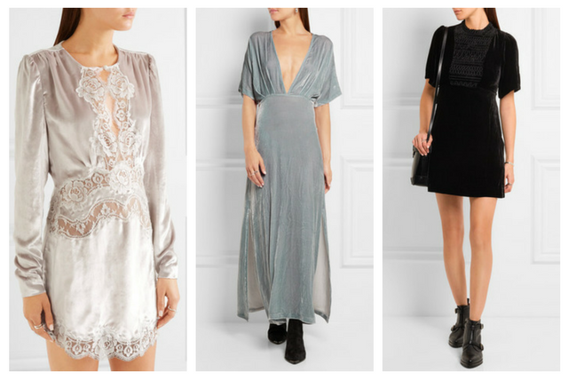 velvet dresses trend