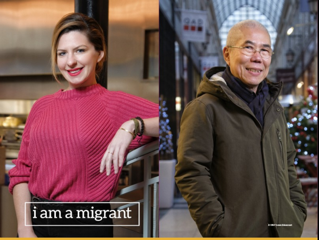 I am a Migrant photo exhibition in Paris.
