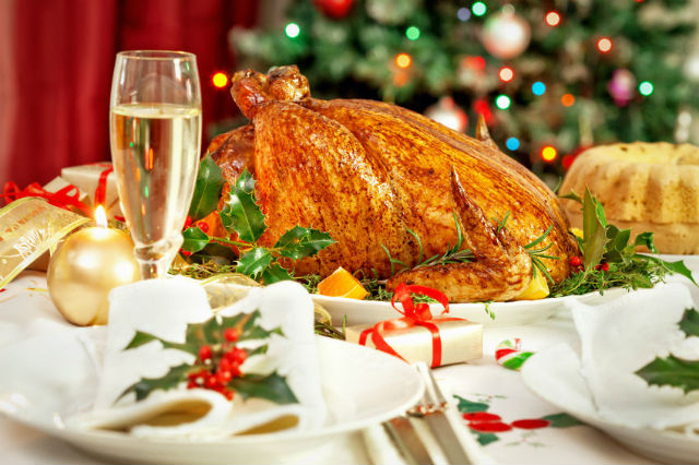 turkey and champagne