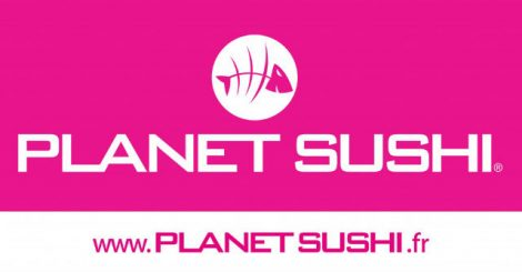 Planetsushi food delivery service logo.