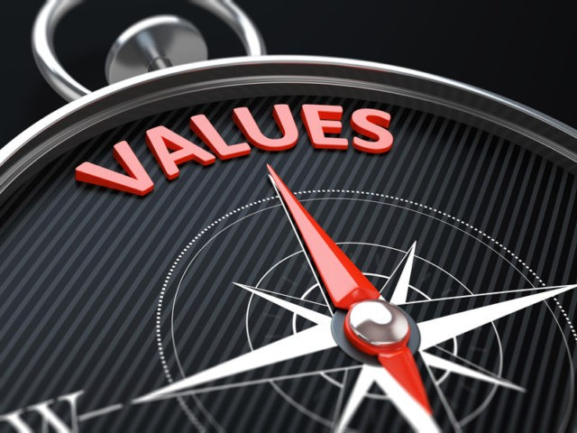 Values on a compass
