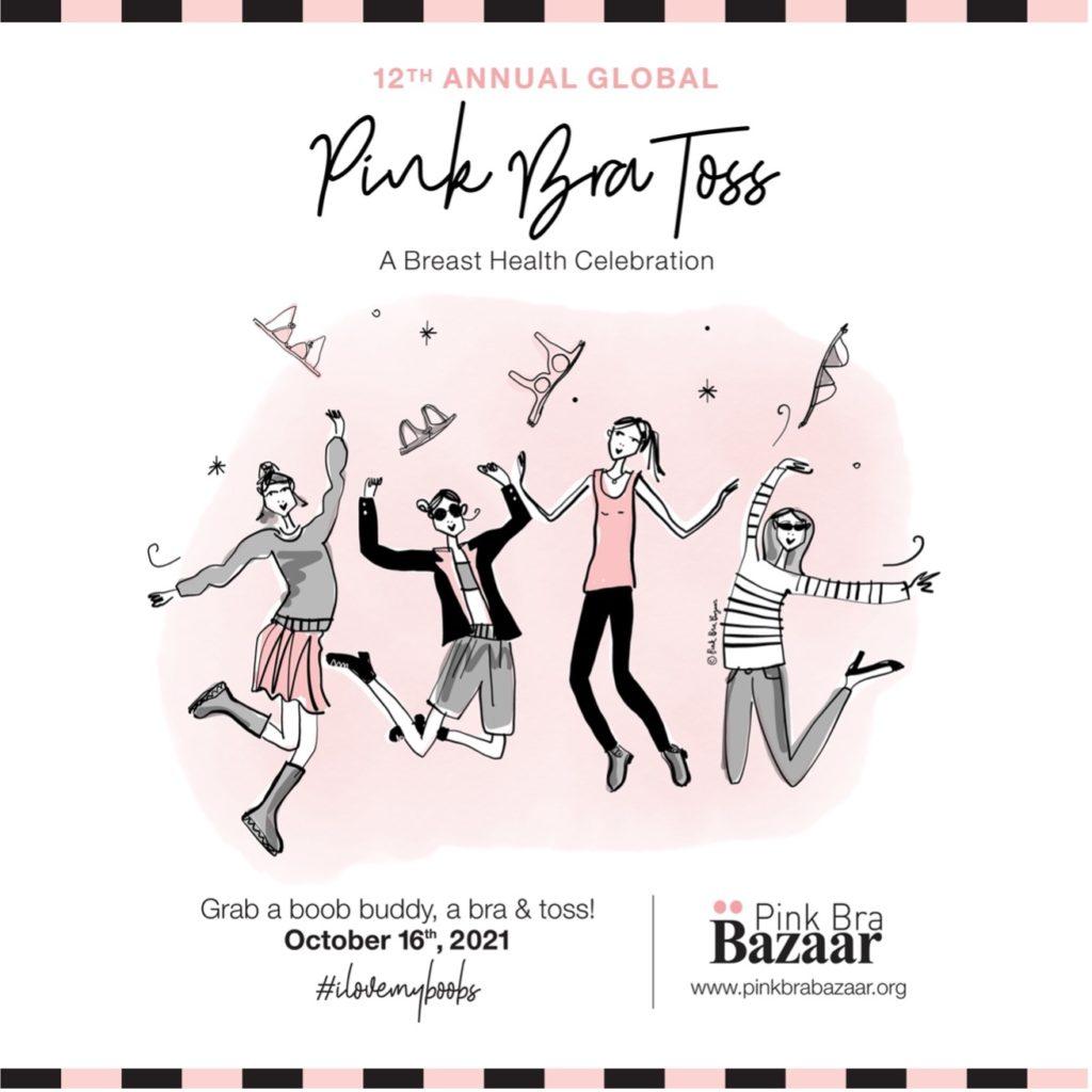Pink Bra Toss poster